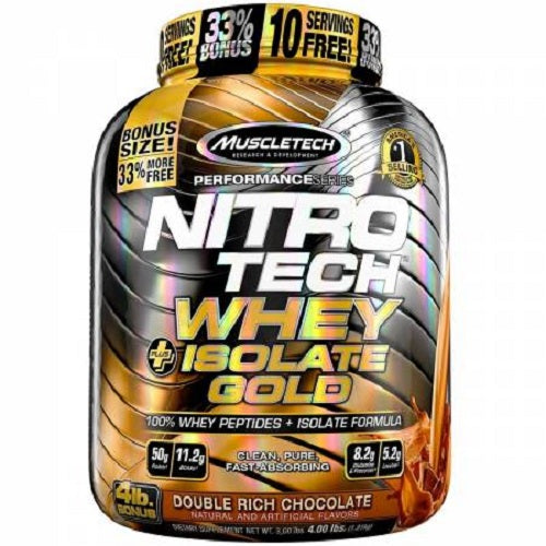 MUSCLETECH NITROTECH WHEY +ISOLATE GOLD(4 LBS)