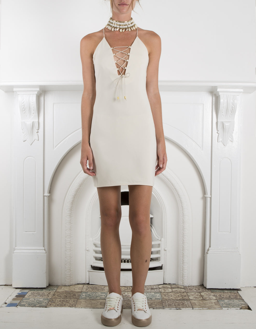 IXIAH-ADORE SLIP DRESS NUDE