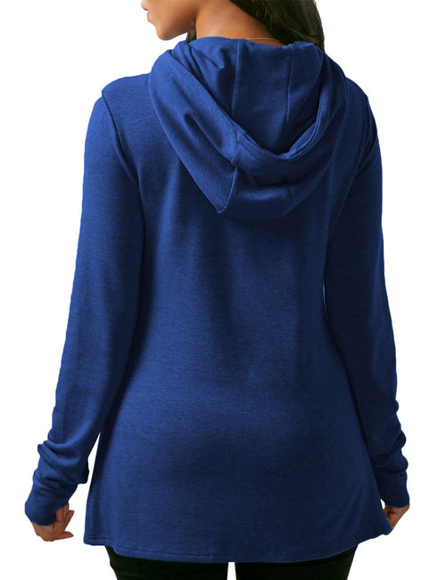 Cheeky Autumn Long Sleeves Hoody Slpit Hem Capture Elegance