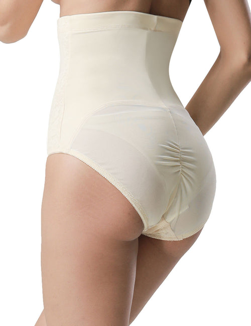 Enthralling Lace High Waist Butt Lift Brief Bodycon