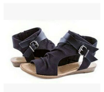 Fashion Buckle Gladiator Glat Denim Women Sandals