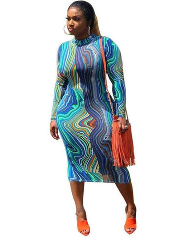 Pleated Midi Pencil Plus Size Dress