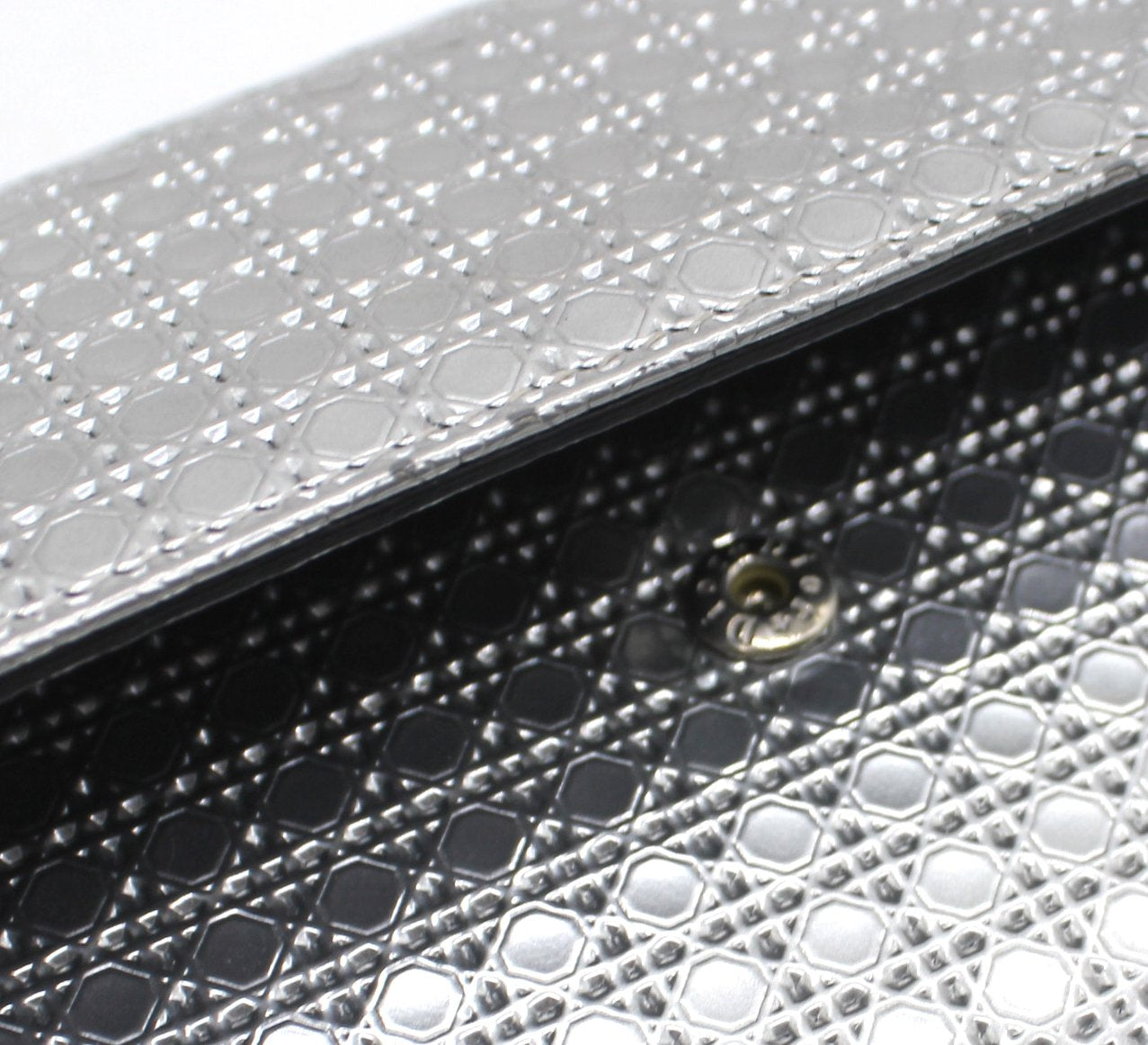 Croisiere Chain Wallet Micro Cannage Perforated Calfskin