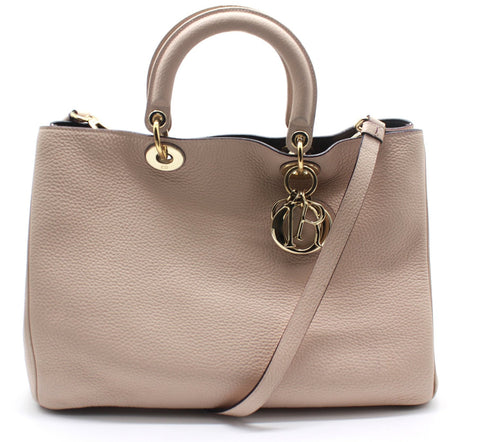 Dior Diorissimo Tote Pebbled Leather Large