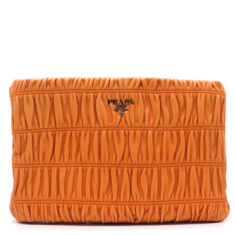 Matelasse Leather Clutch