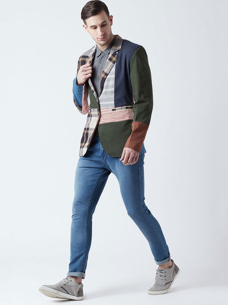 All Patch Men's Blazer - JACKETS - IKKIVI - Shop Sustainable & Ethical Fashion