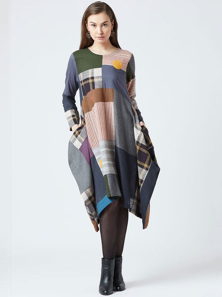 All Patch Oversized Dress - DRESSES - IKKIVI - Shop Sustainable & Ethical Fashion