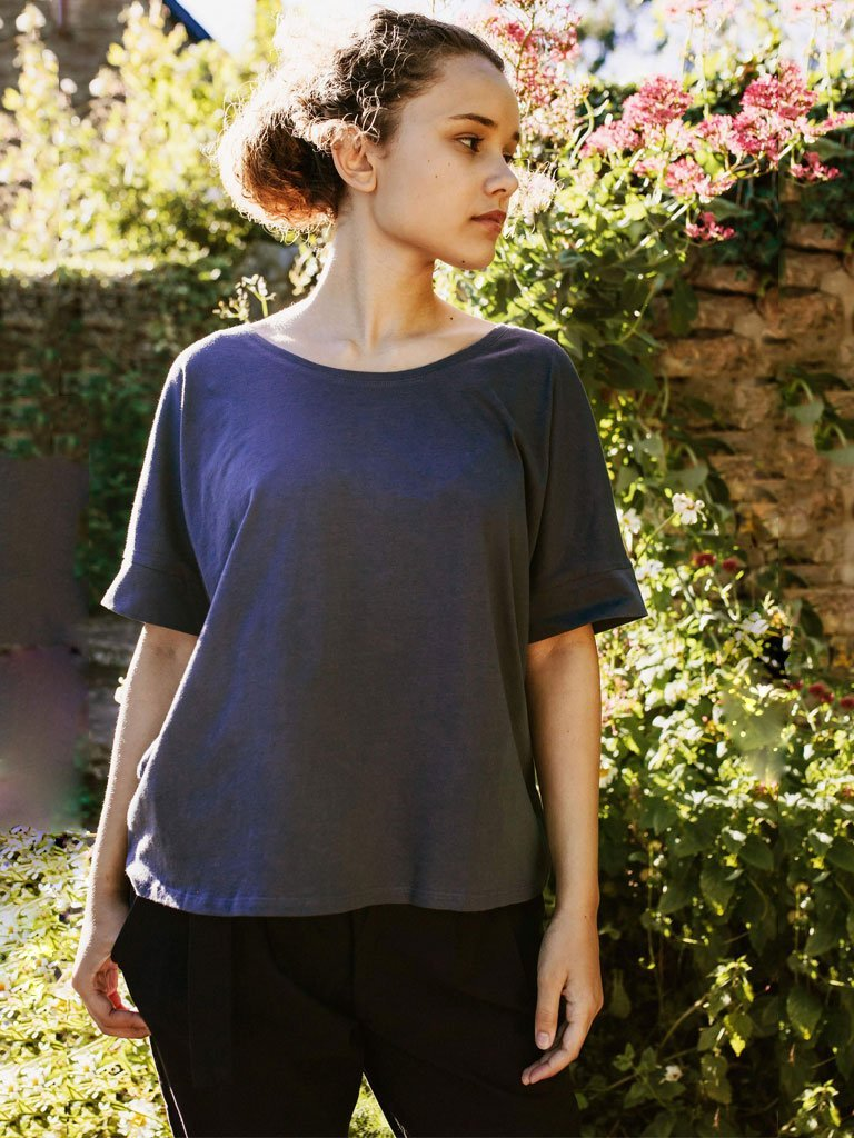 Drop Shoulder Tee : Adrift - TOPS - IKKIVI - Shop Sustainable & Ethical Fashion