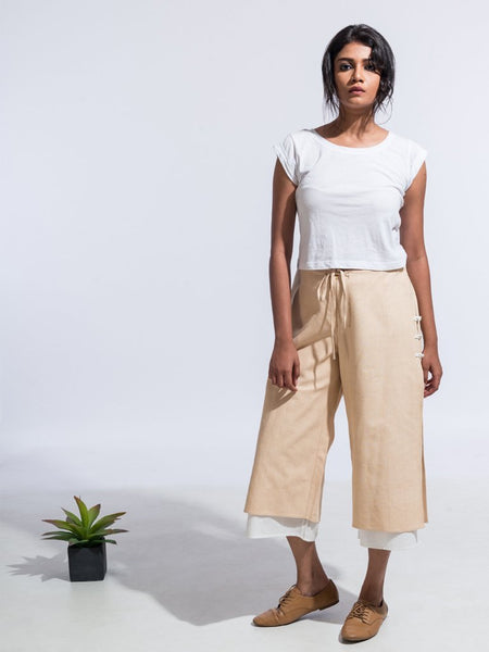 Ana Capri Pants Mud - SKIRTS & TROUSERS - IKKIVI - Shop Sustainable & Ethical Fashion