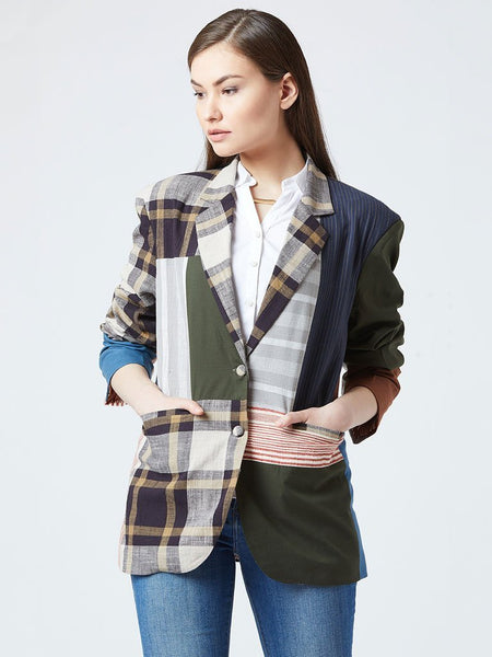 All Patch Blazer - JACKETS - IKKIVI - Shop Sustainable & Ethical Fashion