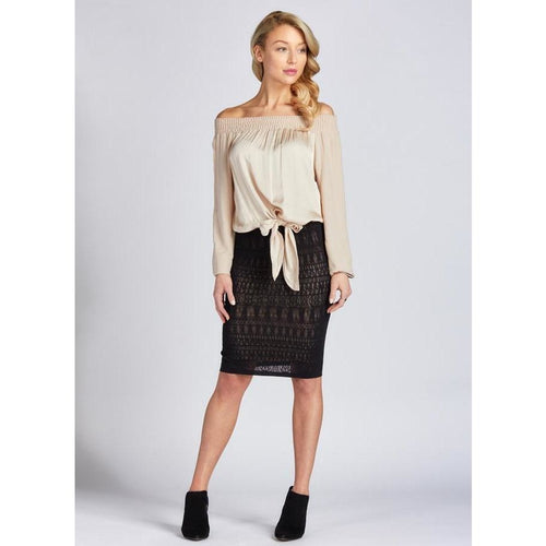 SEAMLESS 3/4 LACE SKIRT-The Men's Shoppe & Her Boutique