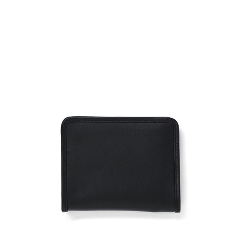 black leather Demi wallet front