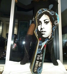 Hand Painted Amy Winehouse Guitar Case
