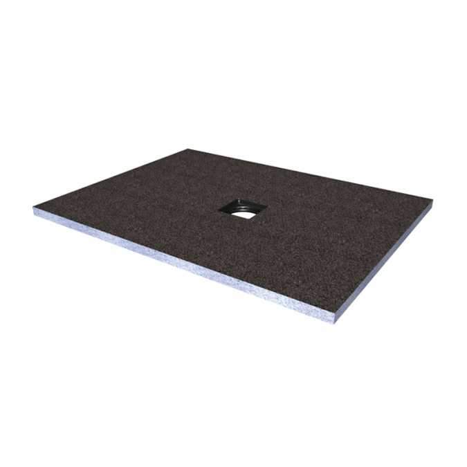 Abacus Direct Tileable Rectangular Shower Tray 900 x 1200mm Centre Drain