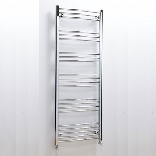 Cassellie Hayle Curved Heated Towel Rail - 1600mm x 600mm - Chrome