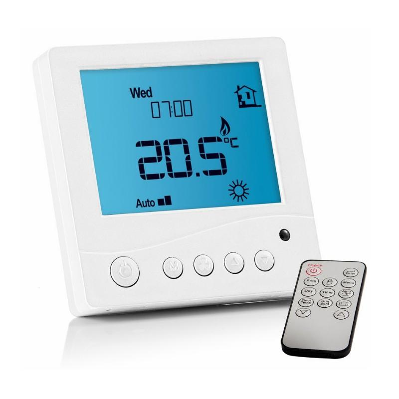 Abacus Essentials Digital Thermostat for Underfloor Heating with Remote - White ATUH-TC01-0010
