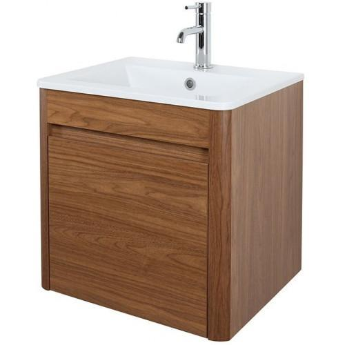 Abacus D-Style Vanity Unit 500 x 450mm Walnut