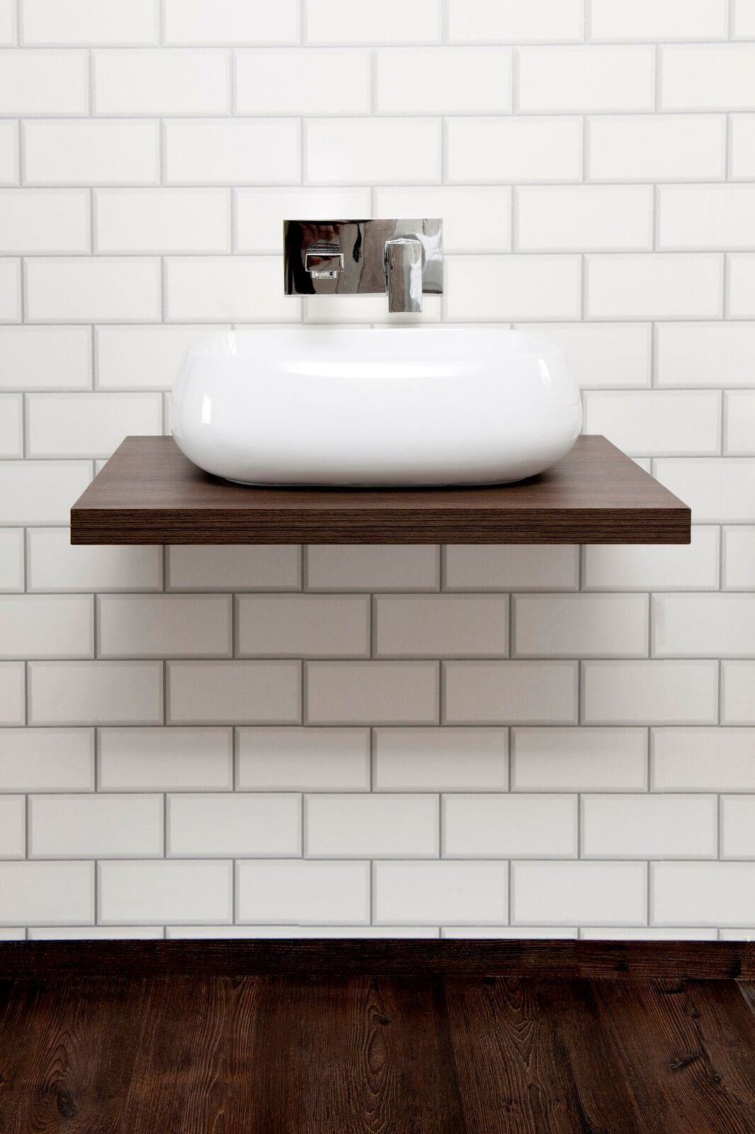 Cassellie Floating Shelf with Concealed Wall Brackets - Walnut