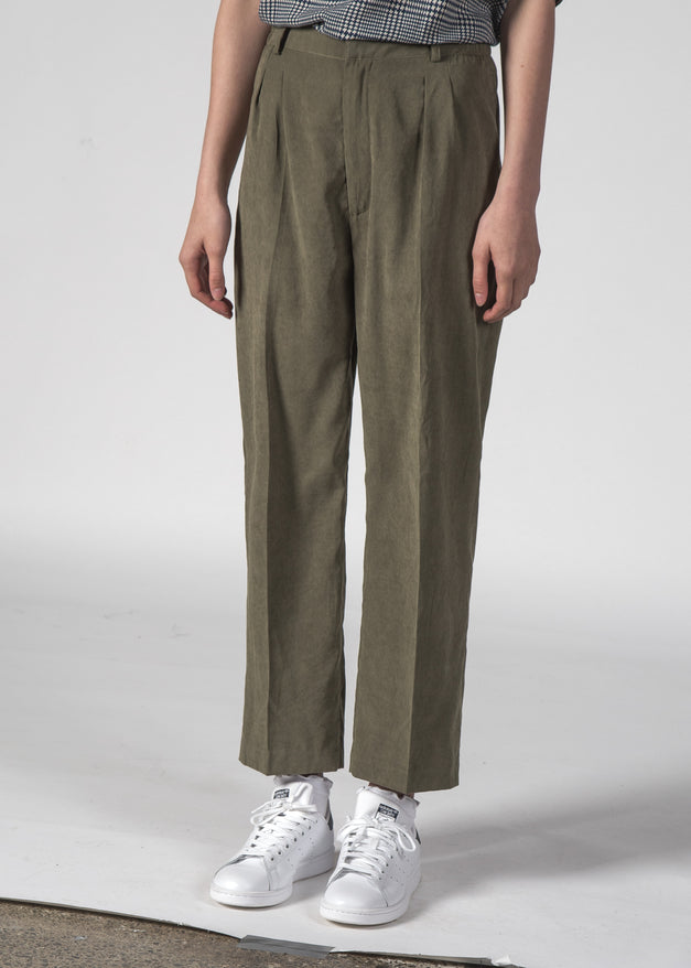 VINCENT PANTS OLIVE SUEDE