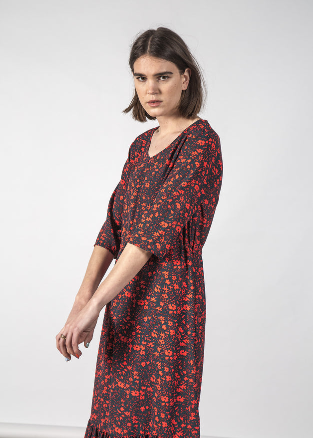 BECA DRESS GLOWING FLORAL