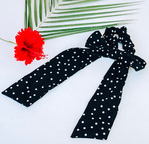 Black Polka Dot Scarf