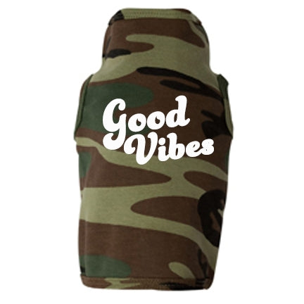 Good Vibes Dog Muscle Tee