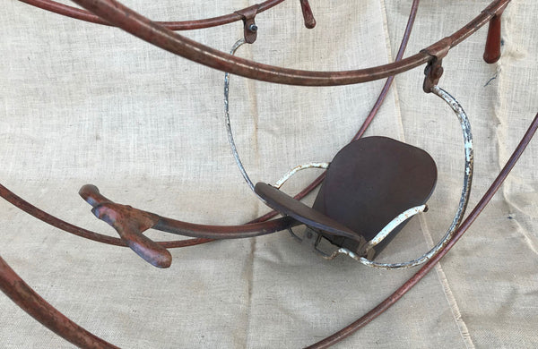 A Vintage Metal Child's Double Rocker by Triang