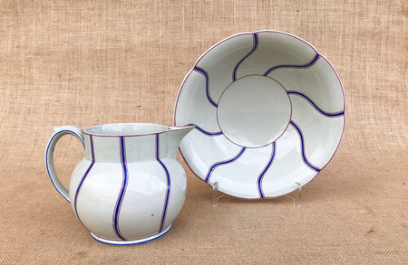 An Early 20th C French Glazed Pottery Cauliflower Dish Set