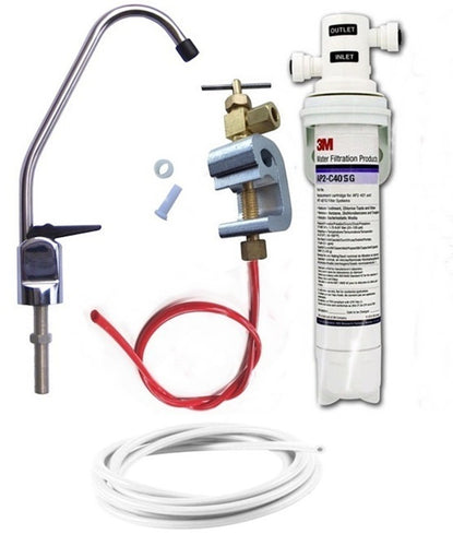 3M Drinking Water Filter Kit (Bacteria Rated Filter) Full DIY System with Chrome Lever Tap