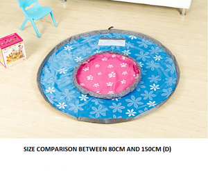 Storage / Play Mat with drawstring (BLUE)