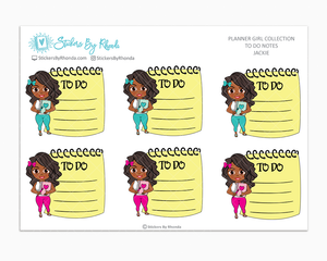 Jackie - To Do Notes - Planner Stickers - Planner Girl Stickers