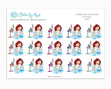 Lizzy  - Let's Chill - Planner Stickers
