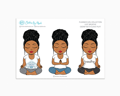 Ebony With Curly Puff - Just Breathe - Planner Girl Collection -  Limited Edition