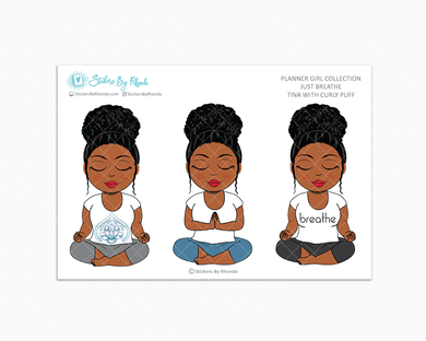 Tina With Curly Puff - Just Breathe - Planner Girl Collection -  Limited Edition