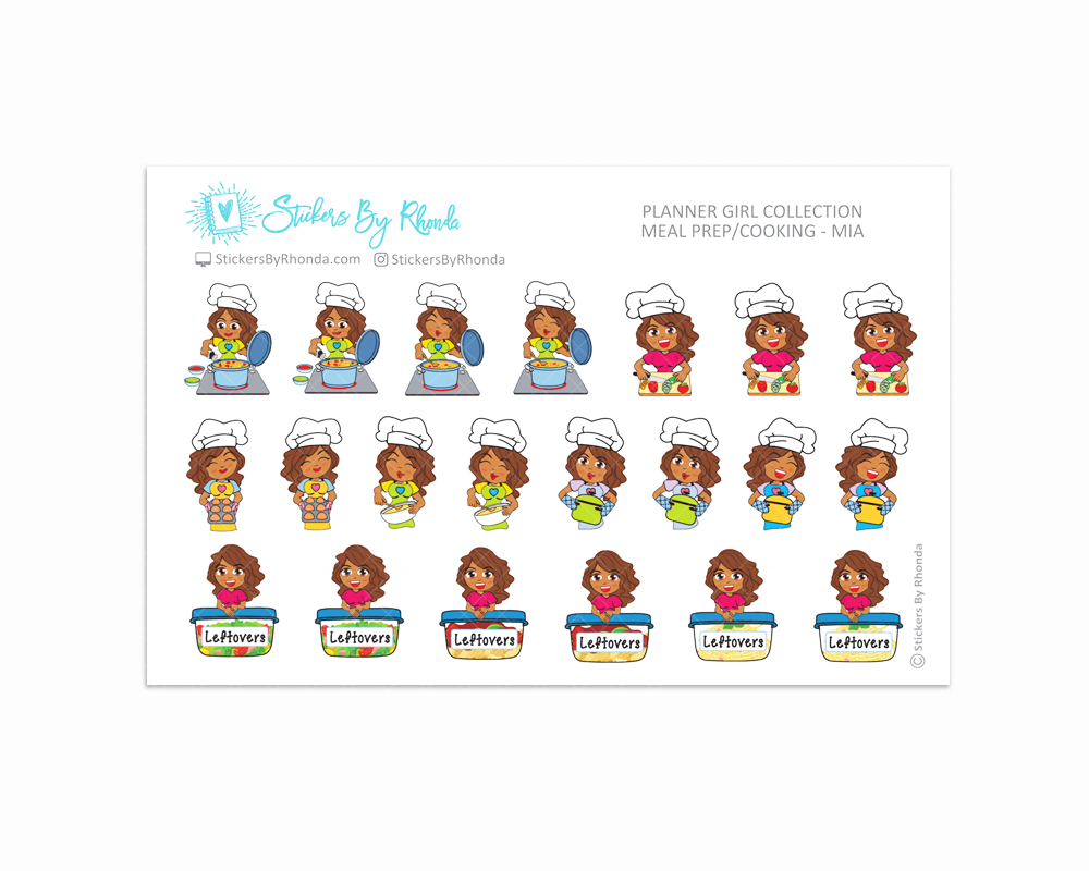 Meal Prep/Cooking Planner Stickers - Mia