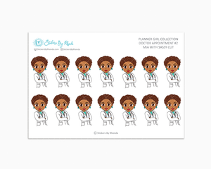 Mia With Sassy Cut - Doctor Appointment #2 - Medical Planner Stickers
