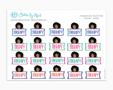 Therapy Planner Stickers - Ebony