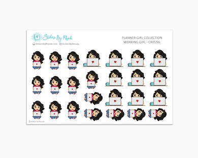 Working Girl Planner Stickers - Crystal