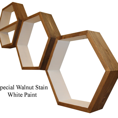 Hexagon Storage Shelves - Set of 3