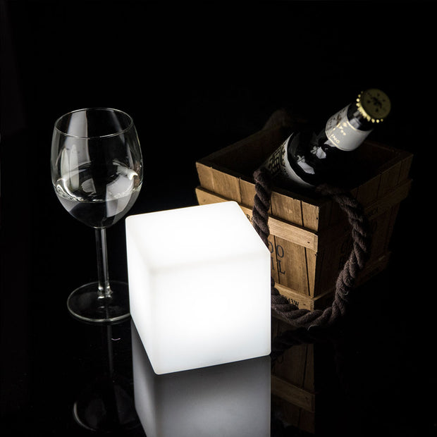 loftek led cube light 4-inch for table decorating