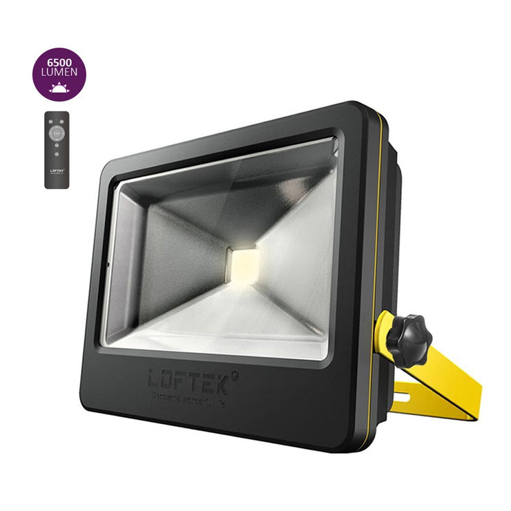 LOFTEK Nova Plus 50W Daylight White LED Flood Light Black Yellow
