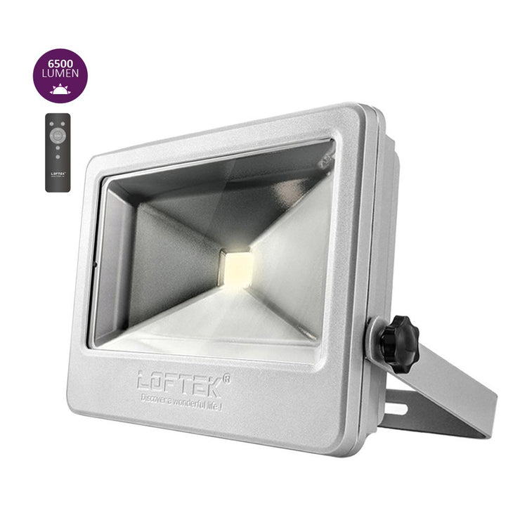 LOTEK Nova Plus 50W Daylight White LED Flood Light Silver