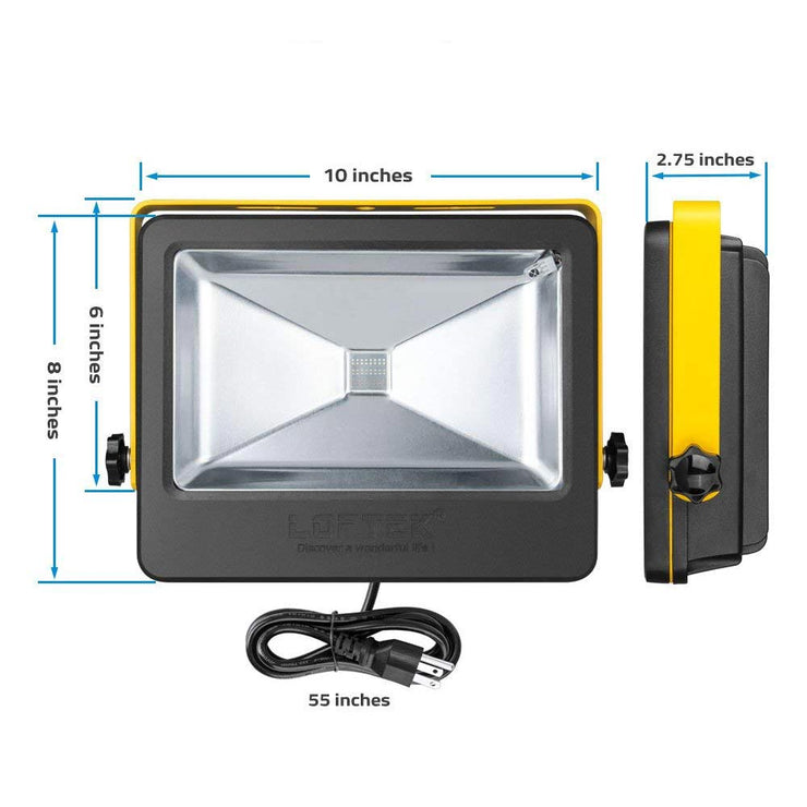 4-Pack Nova Plus 50W Daylight White 6000K LED Flood Light