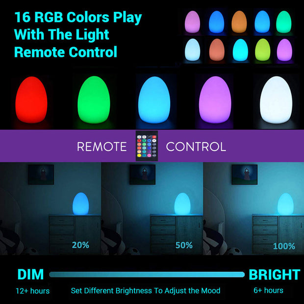 color changing glow lamp remote