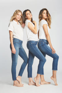 Three women wearing Lila Ryan jeans