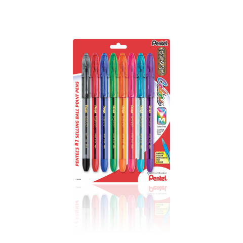 R.S.V.P.® Colors Ballpoint Pen, 8 Pack