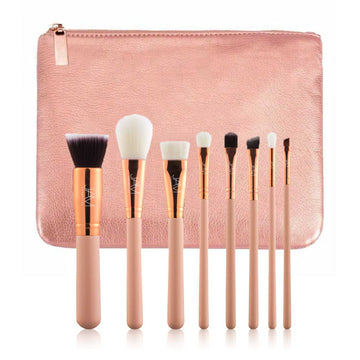 Inexpensive Brush Set Rose Gold for Stage & Dance Makeup