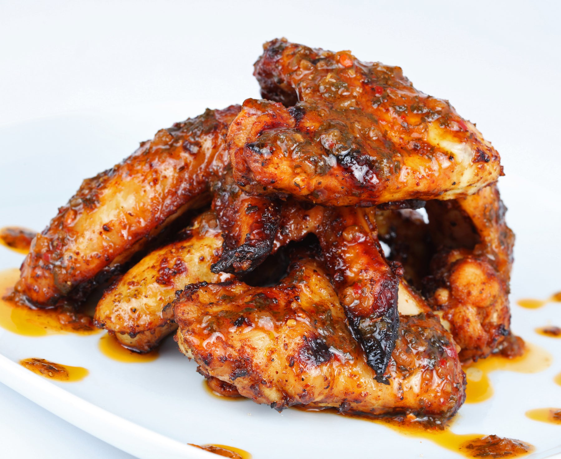 Keto Sticky Sweet Garlic Chicken Wings