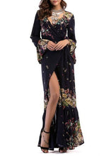 Elegant Floral Printed Maxi Dress