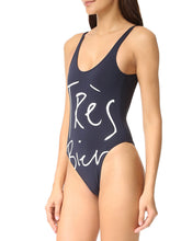 Scoop Neck  Backless  Letters One Piece